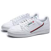 ADIDAS ORIGINALS CONTINENTAL 80 白皮革 紅綠邊 復古 休閒鞋 男 (布魯克林) EG4592