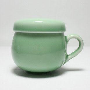 龍泉青瓷茶杯  帶蓋