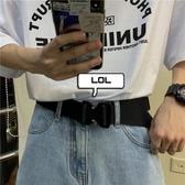 戰術腰帶韓國ins潮流戰術輕機能金屬插扣帆布腰帶皮帶男女快速出貨