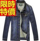 男款牛仔外套明星款-歐美熱賣新品男單寧夾克3色54c9【巴黎精品】