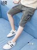 男童短褲夏外穿薄款中大童夏裝五分褲子兒童中褲夏季工裝七分褲潮 特惠免運