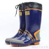 雨鞋-雨鞋男款加絨可拆防水高筒橡膠雨鞋膠鞋膠靴防滑釣魚鞋長筒水鞋 糖糖日系