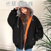 棒球外套棒球外套ulzzang韓國春裝外套學生飛行員夾克原宿風純色簡約款棒球服女潮 米蘭潮鞋館