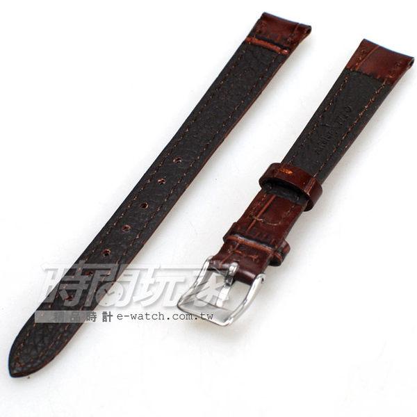 12mm錶帶 真皮錶帶 咖啡色 錶帶 DW咖竹12