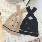 針織女寶寶針織包包女童配飾秋冬款 七色堇