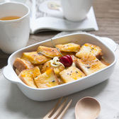長方形陶瓷烤碗雙耳焗飯盤家用
