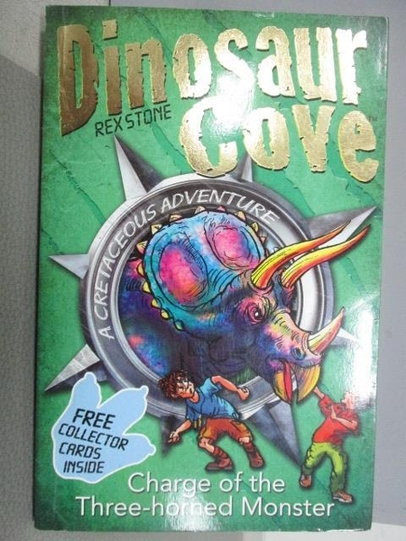 【書寶二手書T1/原文小說_MNB】Dinosaur Cove-Rex Stone-Charge of the Three-horned Monster