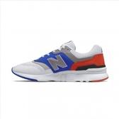 New Balance 男款灰藍紅色休閒運動鞋-NO.CM997HZJ