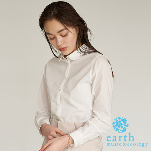 「Spring」 基本款白領襯衫上衣 - earth music&ecology