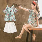 女童套裝兒童裝洋氣韓版時尚短袖時髦衣服【聚寶屋】
