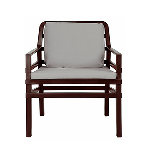 NARDI ARIA 扶手椅+座墊  咖啡+灰色