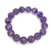 紫水晶圓珠彈性手環