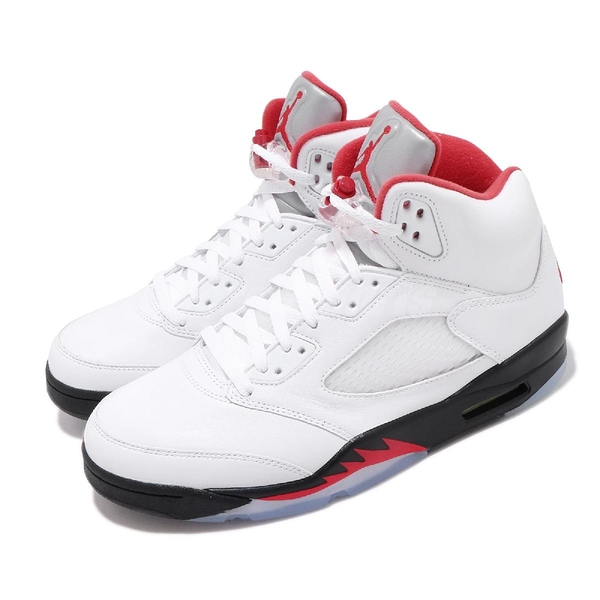 Nike Air Jordan 5 Retro Fire Red 白 紅 黑 男鞋 AJ5 流川楓 喬丹 籃球鞋【PUMP306】 DA1911-102