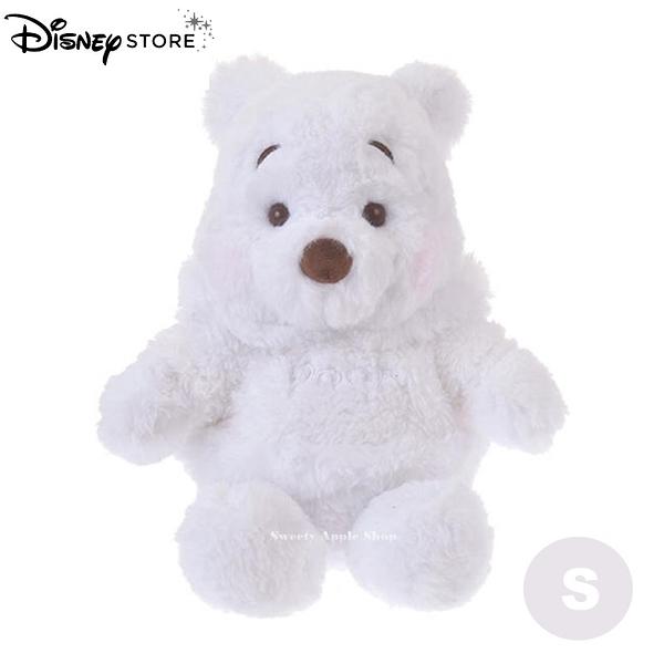 (現貨&實拍)日本DISNEY STORE迪士尼商店限定 雪白小熊維尼 絨毛娃娃S SIZE 28cm(日本超人氣搶購商品)