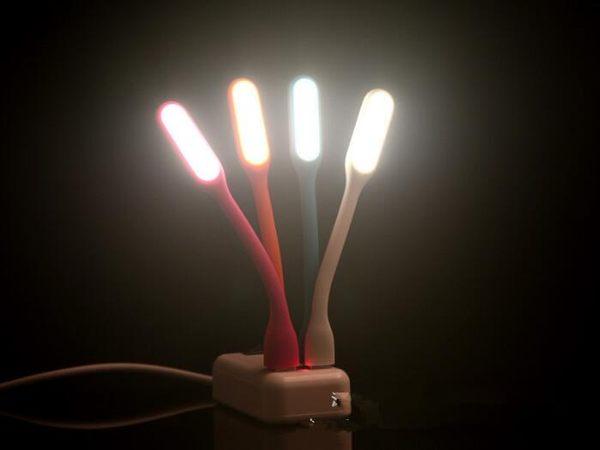 禮物 USB LED小夜燈 燈 筆電 電腦 鍵盤 燈 可折彎 行動電源 燈 蛋卷 小米燈 照明 宿舍