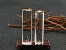 頂級淺色黃水晶(六)臍帶印章《全手工噴砂》六分,正常高度,單章。全配包裝。傳家手工印章
