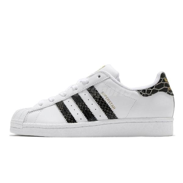 【海外限定】adidas 休閒鞋 Superstar W 白 黑 金 蛇紋 金標 小白鞋 女鞋 貝殼頭 【ACS】 FV3294
