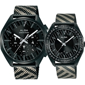 ALBA 雅柏 限量東京街頭對錶 情侶手錶-42+36mm VD53-X374SD+VJ22-X336SD(AT3H07X1+AH7W69X1)