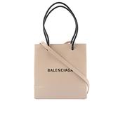 【BALENCIAGA】North South 牛皮二用購物包(XXS)(奶茶色) 597858 0AI2N 2730
