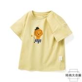 男童短袖T恤兒童上衣文藝棉【時尚大衣櫥】