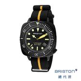【酷伯史東】 DIVER PRO 海龜深度潛水錶 消光黑 超級夜光 防水Nato錶帶 男士經典款