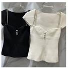 低胸上衣 夏新款韓國東大門時尚小心機低胸短袖針織衫女緊身彈力T恤潮