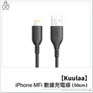 【MFI認證】iPhone Kuulaa 充電線 50公分 2.4A 快充 高速充電 蘋果 傳輸線 數據線
