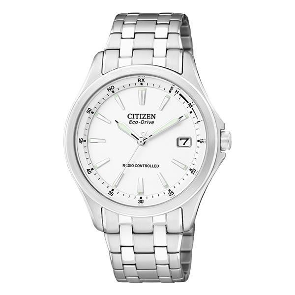 CITIZEN 城市新時尚電波錶-白