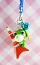 【震撼精品百貨】日本精品百貨-手機吊飾/鎖圈-茶犬系列-鐵塔(藍繩)
