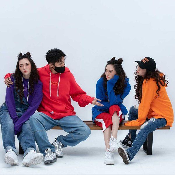 彩虹素色帽TEE SOLID COLOR HOODIE 紅色/橘色/黃色/綠色/藍色/黑色/紫色/粉紅色 八色