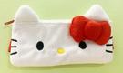 【震撼精品百貨】Hello Kitty 凱蒂貓~Hello Kitty日本SANRIO三麗鷗KITTY化妝包/筆袋-絨毛大臉附綁帶*65477