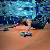 腹肌盤健腹盤健身器材家用四輪男女訓練健腹肌輪滾輪腳踩滑盤滑板        瑪奇哈朵