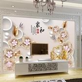 電視背景墻壁紙立體墻紙大氣現代簡約客廳