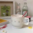 早餐杯 ins陶瓷櫻桃簡約馬克杯可愛少女咖啡牛奶早餐北歐創意個性水杯子【快速出貨八折下殺】
