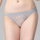 思薇爾-花夜系列M-XL蕾絲低腰三角內褲(飛揚灰)