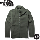 【The North Face 男 刷毛保暖外套《軍綠》】CTT7/刷毛外套/保暖外套/立領夾克