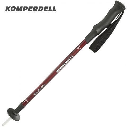 丹大戶外【KOMPERDELL】鋁合金橡膠握把登山杖 1742317-10 健行杖│手杖│滑雪杖