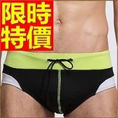 四角泳褲-溫泉經典流行有型男平口褲56d4[時尚巴黎]