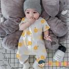 嬰兒哈衣服男女短袖連身衣薄棉夏季爬服純棉薄款【淘嘟嘟】