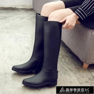 長筒雨靴 外穿雨鞋女高筒春夏時尚雨靴女成人長筒水鞋女士防滑膠鞋馬丁水靴 快速出貨