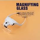 LED燈眼鏡放大鏡頭戴式鐘表維修眼晴放大鏡義烏