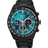 SEIKO 精工 Criteria 極速風暴太陽能計時碼錶-綠x黑/42mm V175-0DK0L(SSC475P1)