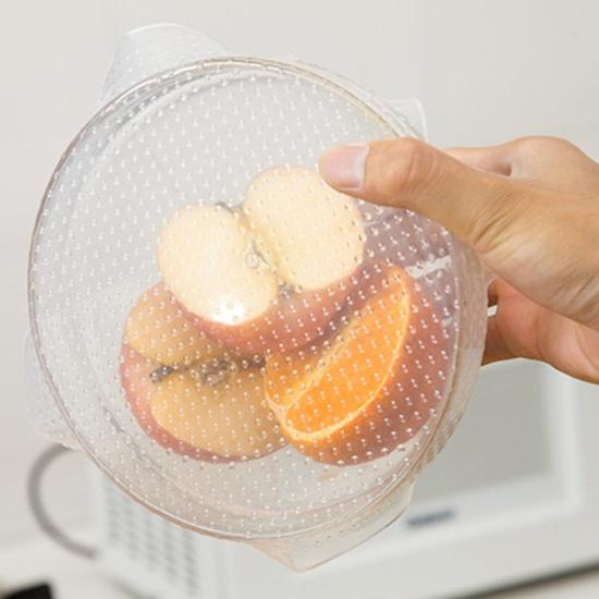 隔熱墊 矽膠密封 耐熱 保鮮 微波爐 杯蓋 開瓶器 透明 加熱 矽膠保鮮膜(中)【J157】慢思行