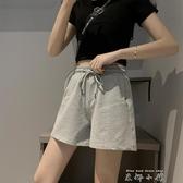 運動短褲女夏季薄款三分褲寬鬆純棉外穿跑步休閒高腰寬管ins潮 米娜小鋪