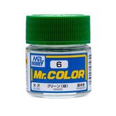 GSI 郡氏 MR.COLOR 組裝模型工具 006 綠色 光澤 硝基漆 油性顏料 TOYeGO 玩具e哥