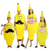 E家人 萬聖節服裝 萬圣節服裝 香蕉服 人偶 Cos