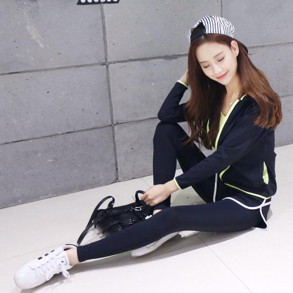 韓版瑜伽服套裝 健身瑜伽運動褲 跑步服假兩件顯瘦春夏季  - 10640012