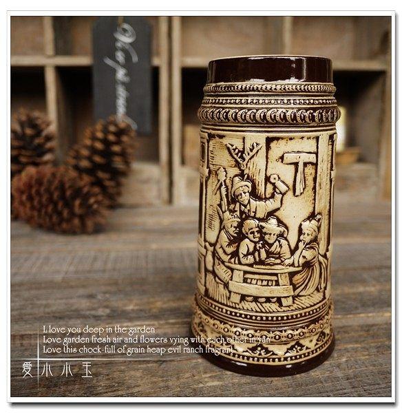 【農夫的一家】陶瓷德國啤酒杯創意