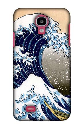 Samsung Galaxy J N075T 手機殼 硬殼 浮世繪 海浪