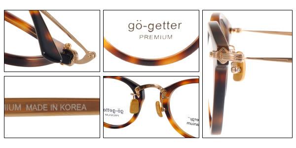 Go-Getter 光學眼鏡 GO5005 C03 (琥珀-金) 韓系時尚半圓框款 # 金橘眼鏡
